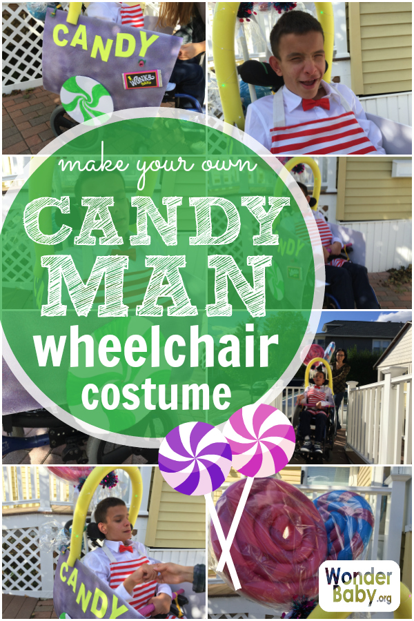 Make your own candy man wheelchair costume
