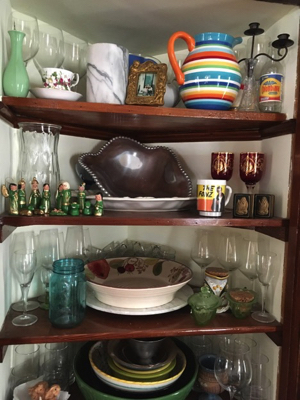 Nicole's eclectic china cabinet