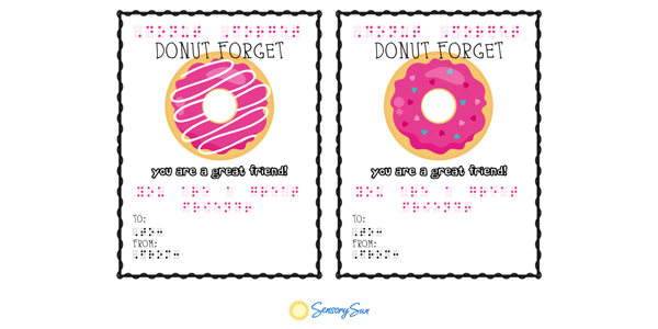 donut forget braille cards
