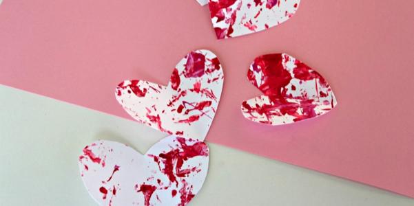 shake valentine's hearts