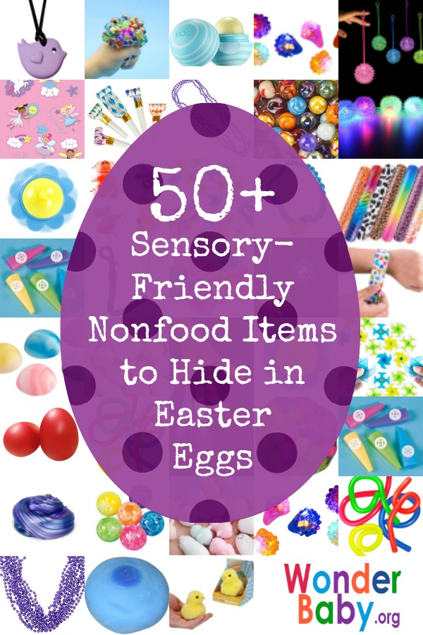 50 Sensory-Friendly Nonfood Items to Hide in Easter Eggs for Kids Who Can't Eat Candy