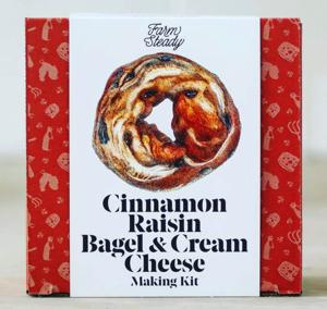 Farmsteady Cinnamon Raisin Bagel & Cream Cheese Making Kit